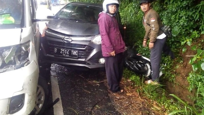 kecelakaan di puncak cianjur