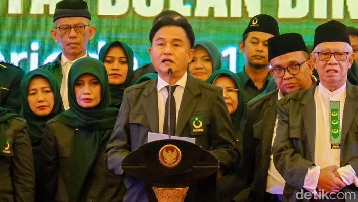 Ketum Partai Bulan Bintang Yusril Ihza Mahendra (Andhika Prasetia/detikcom)