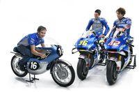 Motor balap Suzuki Ecstar MotoGP tampil klasik pakai kelir era 60'an