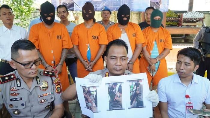 Angga Riza-detikcom/ Polisi mengungkap kasus penganiayaan Lutfi di Ground Zero Bali