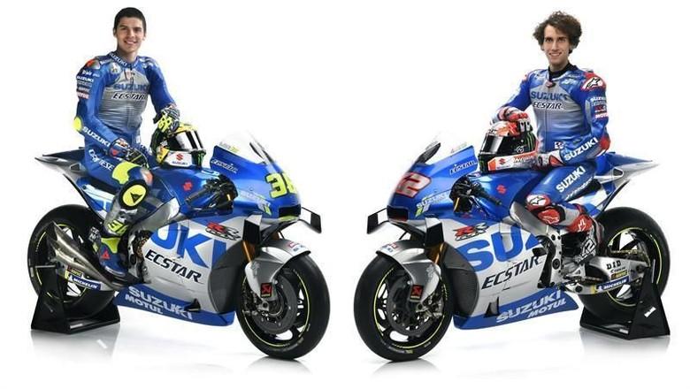 Motor Balap Suzuki MotoGP Pakai Kelir Era 60an