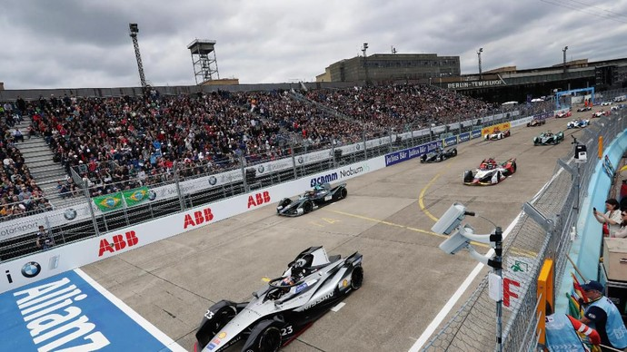 BERLIN, GERMANY - MAY 25: In this handout from FIA Formula E -  Alexander Sims (GBR) BMW I Andretti Motorsports, BMW iFE.18 at Tempelhof Airport on May 25, 2019 in Berlin, Germany. (Photo by FIA Formula E/Handout/Getty Images)