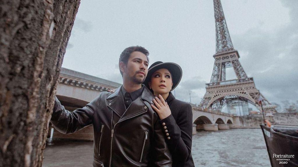Gaya Parisian Chic Nagita Slavina & Raffi Ahmad Saat Pemotretan di Paris