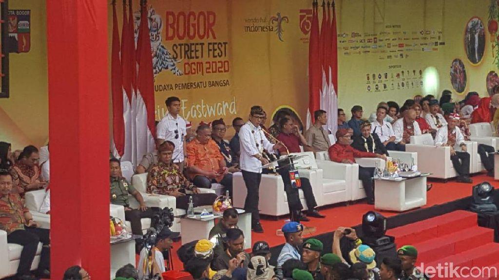 Pesan Toleransi Wishnutama di Festival Cap Go Meh Bogor 2020