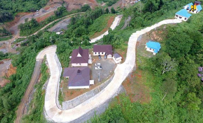 Bendungan Tapin dibangun dengan tipe Timbunan Batu Zonal Inti Tegak dan memiliki kapasitas tampung 70,52 m3. Istimewa/Kementerian PUPR.