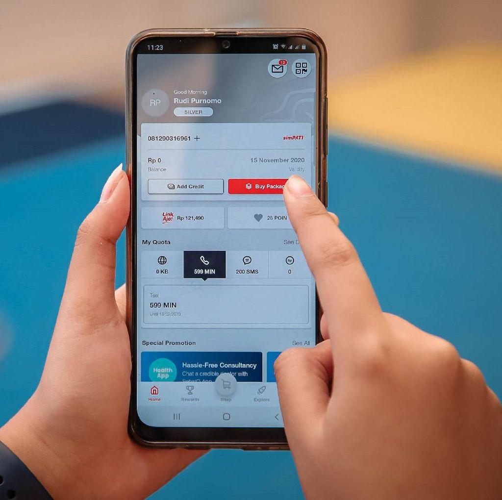 Hore, Pelanggan Bisa Isi Pulsa di MyTelkomsel Pakai GoPay