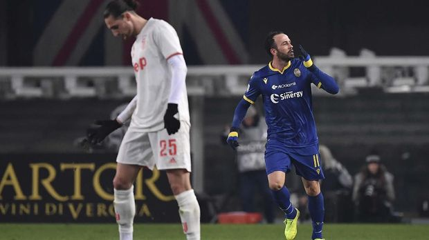 Juventus juga baru menelan kekalahan dari Verona di Liga Italia.