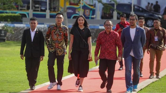 Putri Tanjung menghadiri PWI Milenial Talk Show 2020 di Banjarmasin