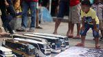 Ketika Bus Replika Parkir di CFD Jakarta