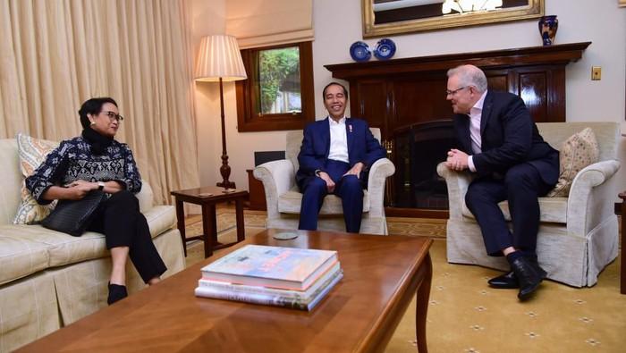 Saat Presiden Jokowi Dijamu Santap Malam oleh PM Morrison