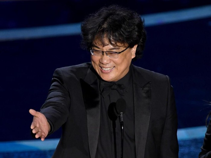 HOLLYWOOD, CALIFORNIA - FEBRUARY 09: Bong Joon-ho accepts the Directing award for Parasite onstage during the 92nd Annual Academy Awards at Dolby Theatre on February 09, 2020 in Hollywood, California. (Photo by Kevin Winter/Getty Images)