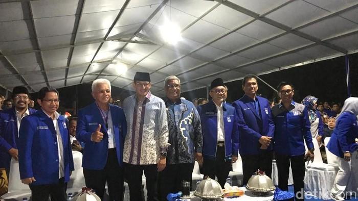 Zulkifli Hasan, Sandiaga uno, hingga Hatta Rajasa di pembukaan Kongres PAN.