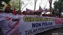 Demo Save Babi di Depan DPRD Sumut, Lalin Macet