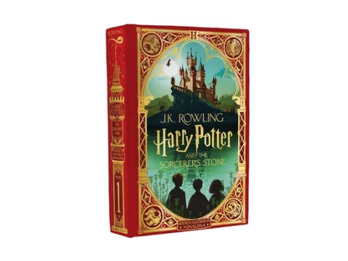 Sampul Buku Harry Potter dan Batu Bertuah Edisi Amerika Utara