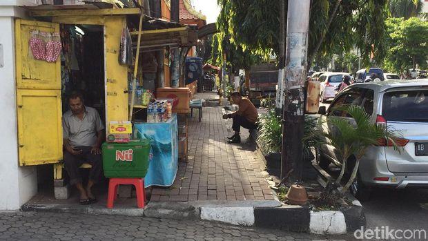 Penataan Pedestrian, PKL Jalan Sudirman Yogya Direlokasi ke Pasar