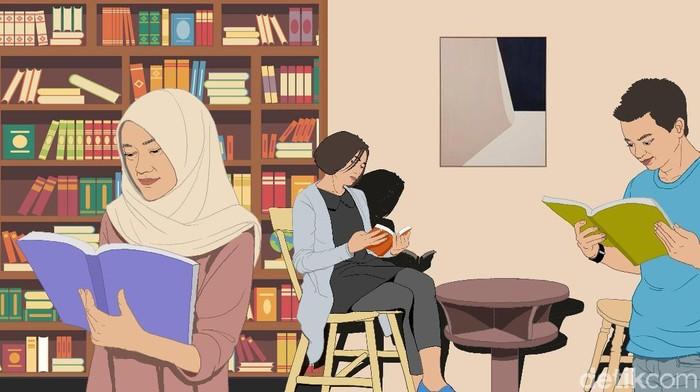 Ilustrasi Perpustakaan Keren di Jakarta