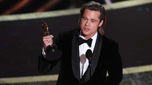 Meme-able! Pose Kocak Brad Pitt Usai Juara Oscar 2020