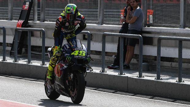Valentino Rossi berada di posisi kelima pada tes MotoGP 2020 di Sepang.