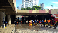 Jurus Basuki Bereskan Banjir Underpass Kemayoran