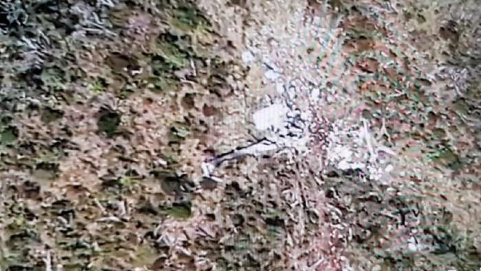 DOK. ISTIMEWA/ Puing heli MI-17 yang jatuh di Pegunungan Bintang Papua
