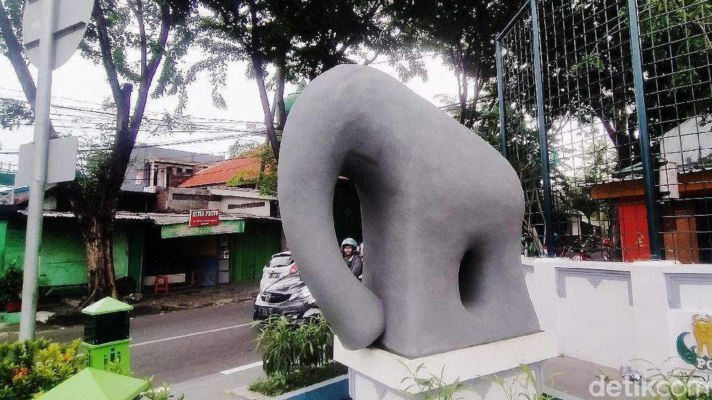 Begini Wujud Patung Gajah Mungkur yang Telan Dana Rp 1 M