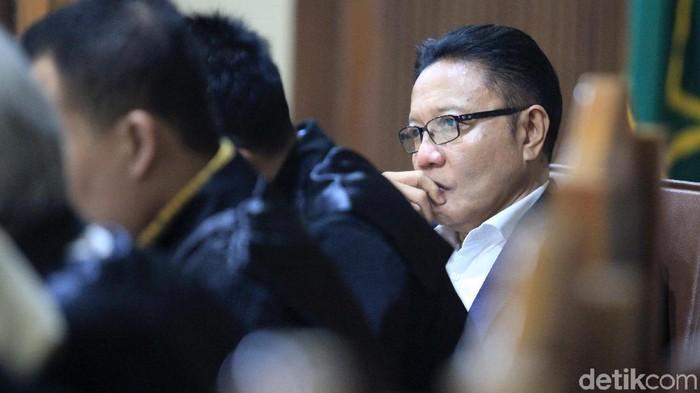 Eks anggota DPR I Nyoman Dhamantra kembali jalani sidang lanjutan kasus suap di Pengadilan Tipikor Jakarta.