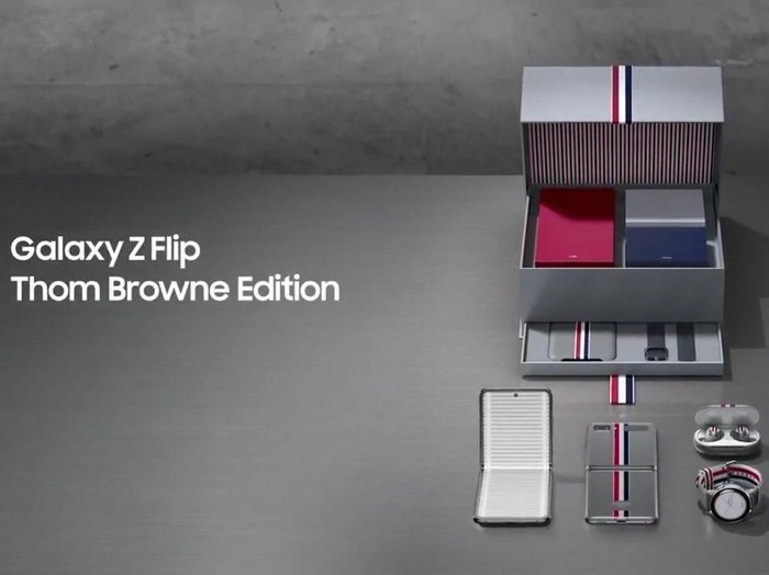 galaxy z flip thom browne edition