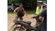 Disetop karena Diduga Mabuk, Pria Ini Halu Motornya Belok Sendiri