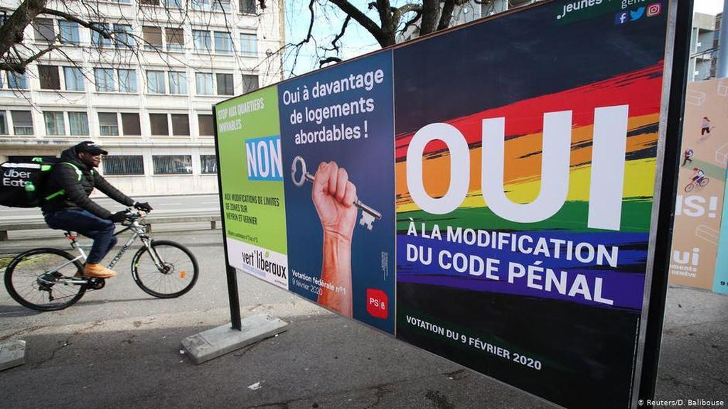 Pemilih Swiss Menangkan Referendum Anti Diskriminasi dan Homofobia