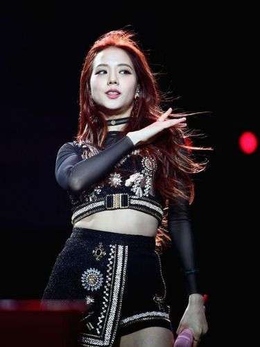 INDIO, CA - APRIL 12:  Jisoo of BLACKPINK performs at Sahara Tent during the 2019 Coachella Valley Music And Arts Festival on April 12, 2019 in Indio, California.  (Photo by Rich Fury/Getty Images for Coachella)