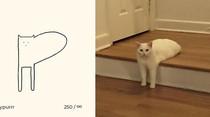Kumpulan Ilustrasi Kucing Sederhana yang Bikin Ngakak