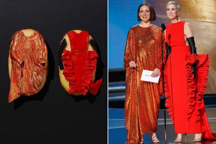 biskuit dengan hiasan gaun oscar 2020