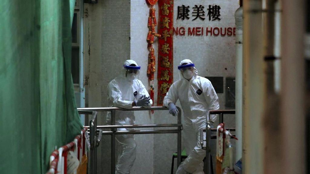 2 Penghuni Positif Corona, 100 Orang di Apartemen Hong Kong Dievakuasi