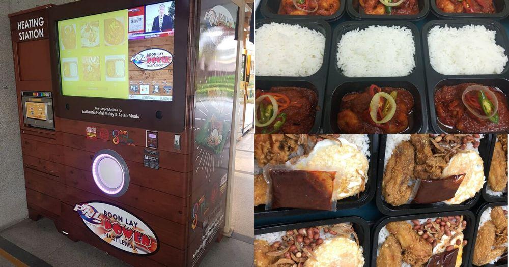 vending machine makanan berupa nasi lemak dan makanan khas Malaysia lainnya