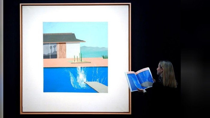 Lukisan David Hockney The Splash
