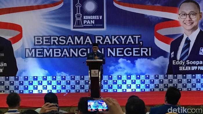 Zulkifli Hasan di Penutupan Kongres PAN (Foto: Zhacky/detikcom)