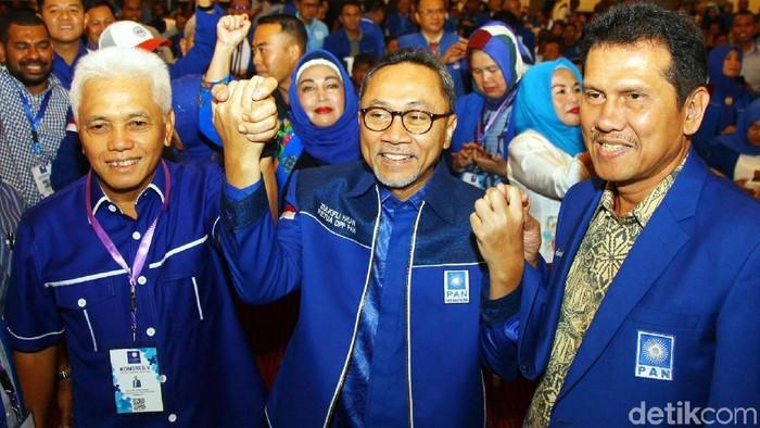 Ketua Umum PAN terpilih Zulkifli Hasan resmi menutup kongres di Kendari, Sulawesi Tenggara, Rabu (12/2/2020).