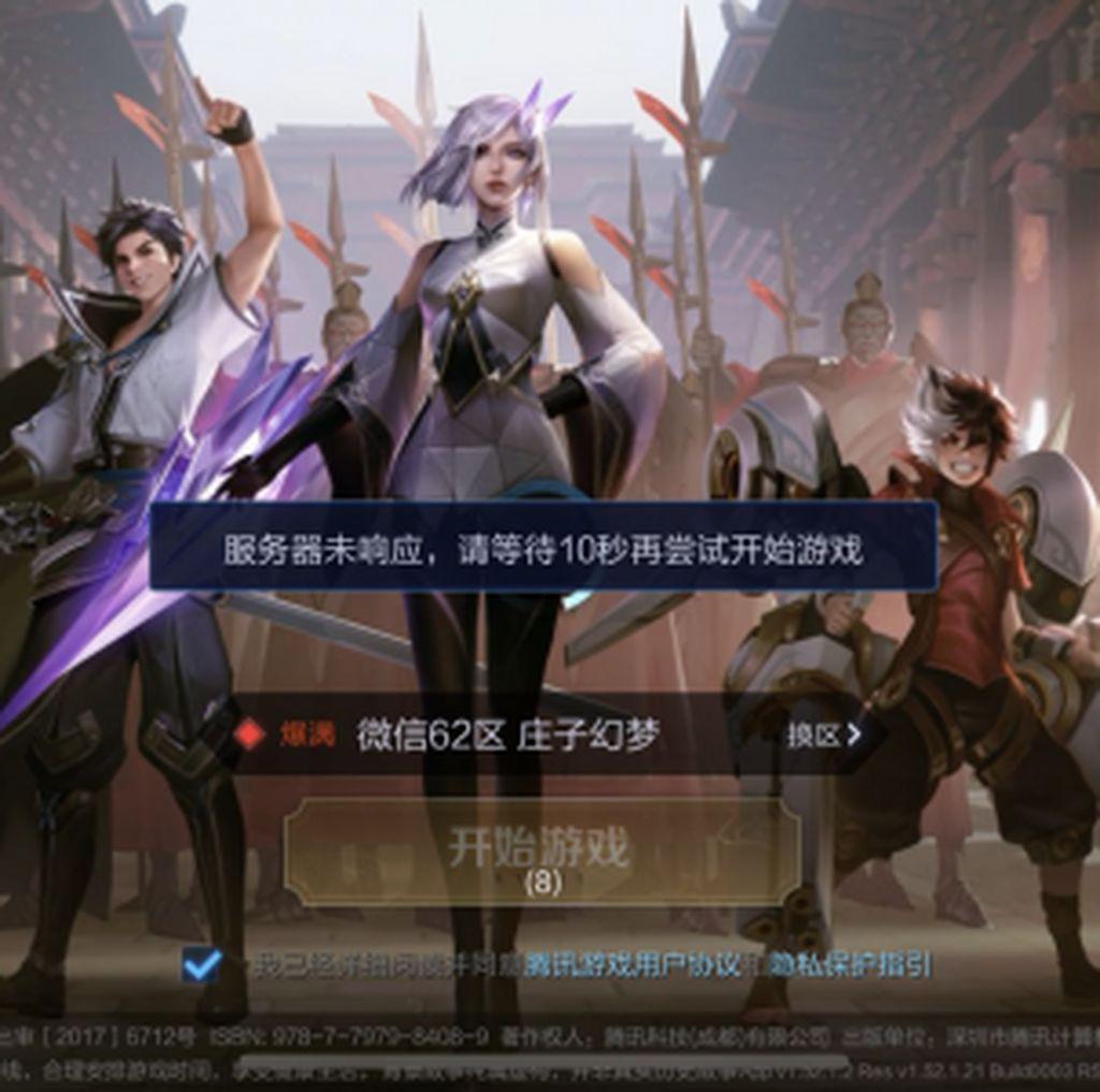 Arena of Valor Versi China Tumbang Gegara Virus Corona