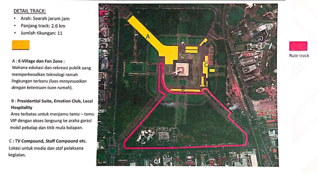 Jakpro Masih Pertimbangkan Lokasi Formula E Jakarta, Tak Jadi di Monas?