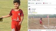 Bocah 10 Tahun Ini Viral berkat Gol Tendangan Sudut