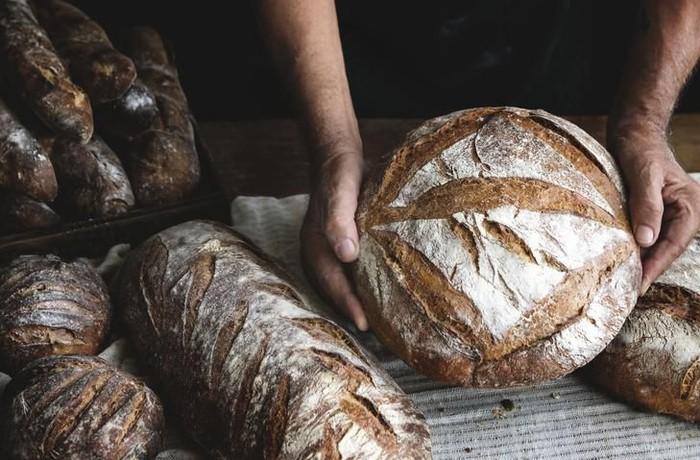 roti sourdough dengan campuran cairan vagina