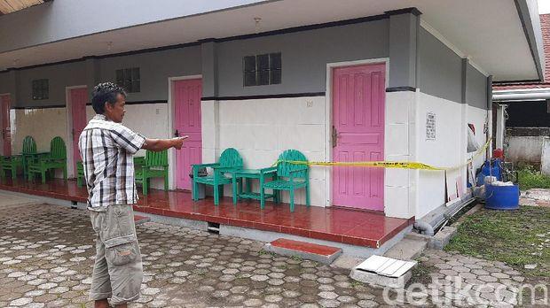 Kamar hotel tempat pasangan bukan pasutri ditemukan tewas digaris polisi
