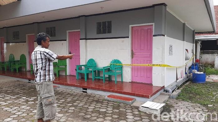 Hotel TKP pria-wanita meninggal di Baturraden, Rabu (12/2/2020).