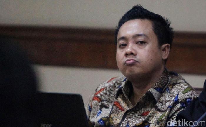 Eks asisten pribadi Menpora Imam Nahrawi, Miftahul Ulum kembali jalani sidang lanjutan di Pengadilan Tipikor, Jakarta.