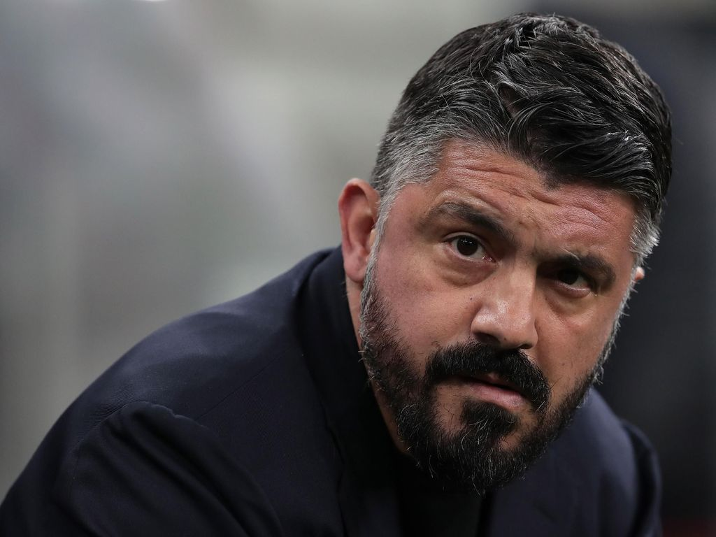 MILAN, ITALY - FEBRUARY 12:  SSC Napoli coach Ivan Gennaro Gattuso looks on during the Coppa Italia Semi Final match between FC Internazionale and SSC Napoli at Stadio Giuseppe Meazza on February 12, 2020 in Milan, Italy.  (Photo by Emilio Andreoli/Getty Images)