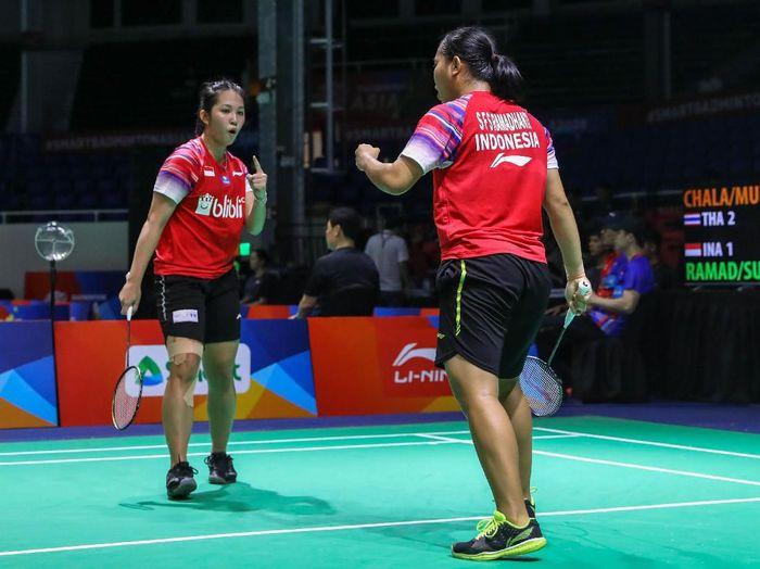 Siti Fadia Silva Ramadhanti/Ribka Sugiarto di Kejuaraan Bulutangkis Beregu Asia 2020.
