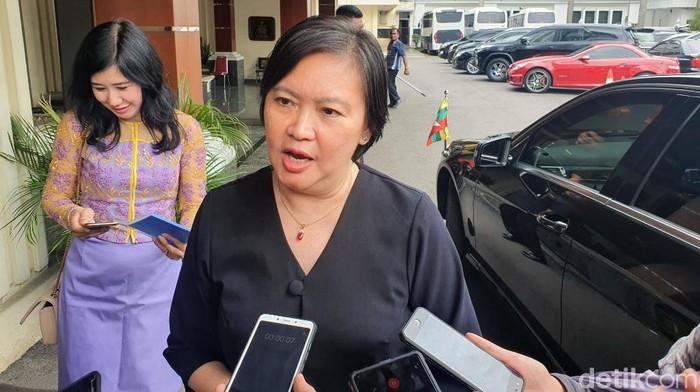 Dubes Myanmar untuk Indonesia Ei Ei Khin Aye (Isal Mawardi/detikcom)