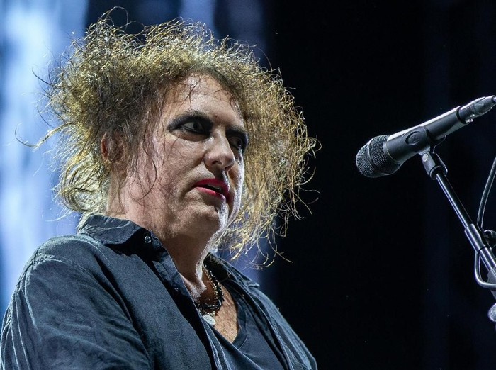 Robert Smith of British rock band The Cure performs at the Austin City Limits (ACL) Music Festival on October 12, 2019 at Zilker Park in Austin, Texas. (Photo by SUZANNE CORDEIRO / AFP)