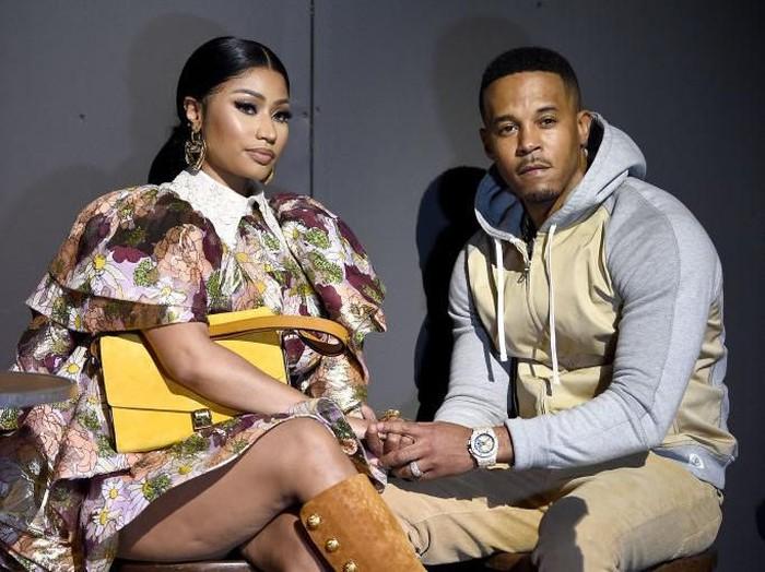 Nicki Minaj bersama kekasihnya Kenny.