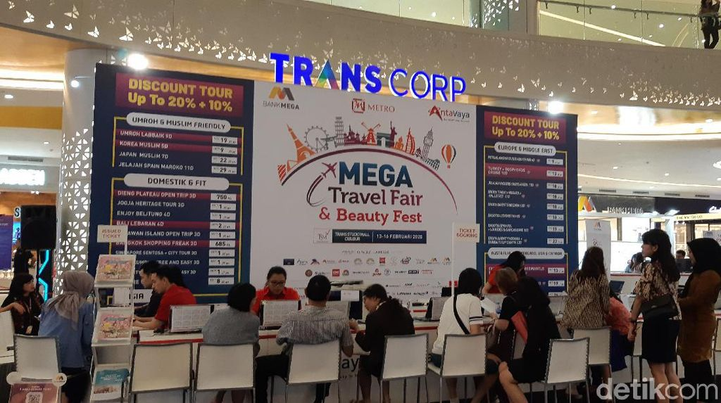 Top 3 Destinasi Unggulan di Mega Travel Fair 2020